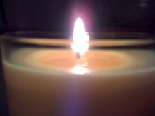 candle light for meditation page