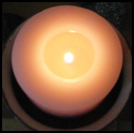 full moon candel