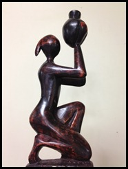 kneeling the morning in