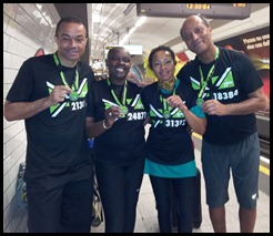 holding our medals on the tube