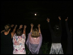 blessings from the light of the full moon lunar eclipse