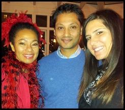 Menhaj Huda and Lily Lapenna Huda with Toks at Tea with Atiti 26 Nov 2012