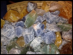 calcite - blue green yellow