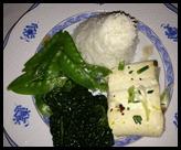 rice fish greens