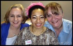 Sonia Grant, Toks Coker, Helen Walker March 2013