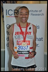 I Did It. 5th marathon congratulations Jeremy 2013