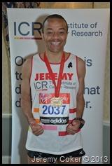 I Did It. 5th marathon congratulations Jeremy 2013