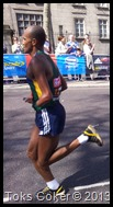 marathon disabled runner with a disabled arm