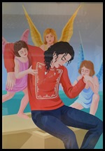 Angels help Michael Jackson