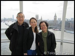 Cherlyn Wong with her mother and father