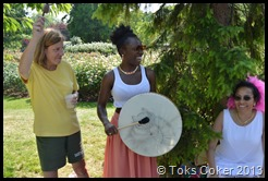 Ceremony led by Catherine Richardson for Toks Coker with Ronke Lawal on drums