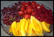 fresh fruits at Shabat