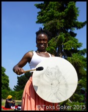 Ronke Lawal on Shamanic Drum