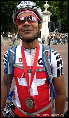 Proud Julian Coker did 160km on Sunday4August2013
