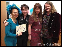 Toks Coker, Radleigh Valentine, Dorren Virtue & Mark. Toks Certified Angel Card Reader