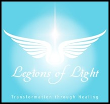 legion of light logo with stars and wordings use