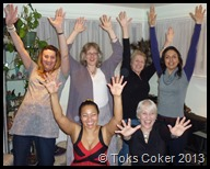 Shelly Bridgeman, Kay Westmoreland, Angela Buck, Dhriiti Mehra,Phylliis Sant Maria and Toks Coker in red