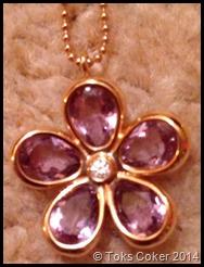 Amathyst Rose Gold Flower