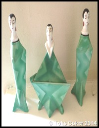dancing green dresses