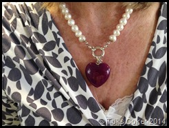 Purple Heart on Pearls