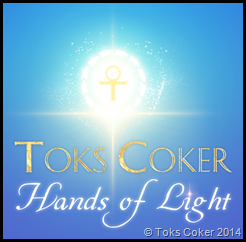 Toks Coker Hands of Light Ankh Snake Heart Sparkle