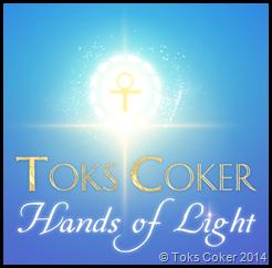 Toks Coker Hands of Light Ankh Snake Heart Sparkle