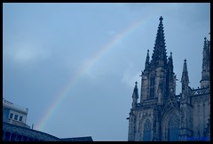 Rainbow Barcelonia Cathedral