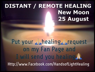 Distant Healing 25 August