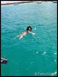 Swimming in Ibiza