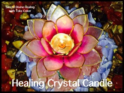 healing crystal candle