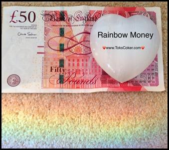 raining rainbow money