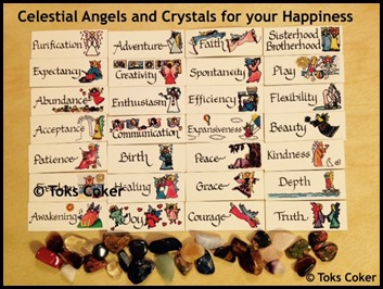 Celestial Angels and Crystals