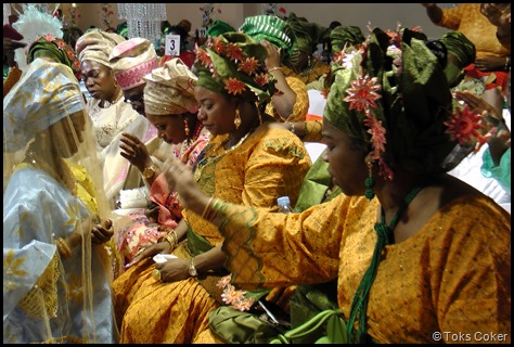 Blessing from bride's family