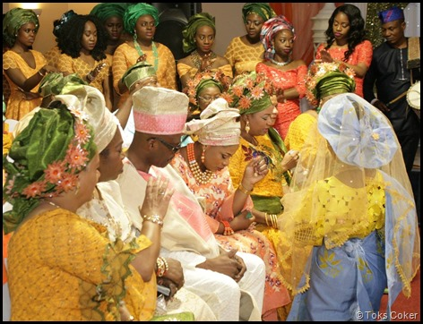 blessing from the family to bride
