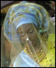 dancing bride smiles