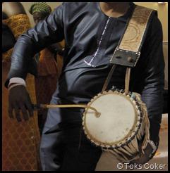 Drummer beats his drum