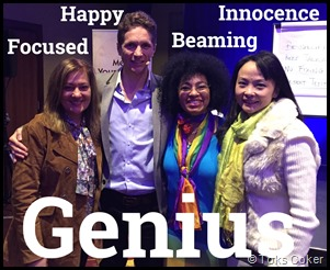genius beaming