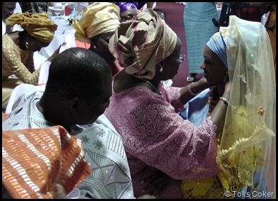 mother of groom blessing bride