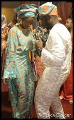 wife and husband dancing