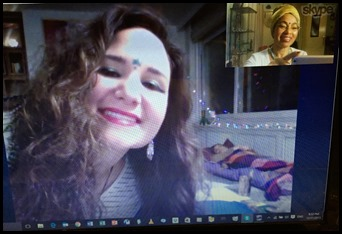 Merve smiling and Toks