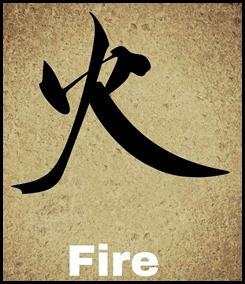 fire chinese character