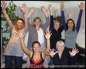 Shelly Bridgeman, Kay Westmoreland, Angela Buck, Dhriiti Mehra,Phylliis Sant Maria and Toks Coker in red