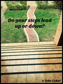 steps up or down